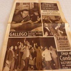 Coleccionismo deportivo: DICEN (8-6-65)!!! EL LÉRIDA RECIBIMIENTO APOTEÓSICO TRAS SUBIR A 2ª DIV.!!!!CONDAL LLEGÓ VICTORIOSO.. Lote 90356466