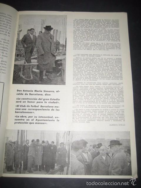 Coleccionismo deportivo: CLUB DE FUTBOL BARCELONA. INFORMACION Nº14 AÑO 1956 - Foto 2 - 59665071