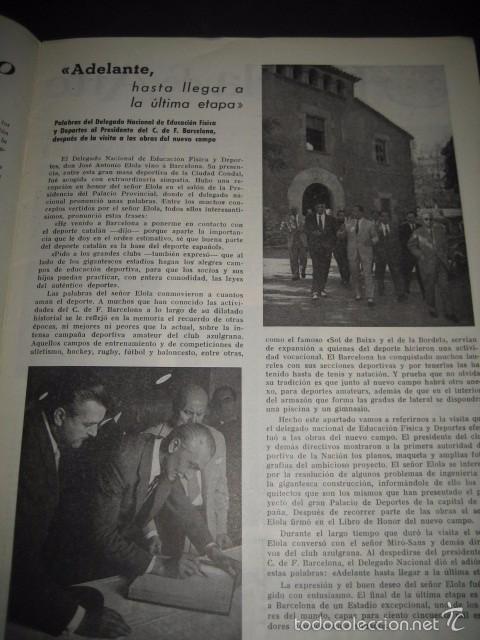 Coleccionismo deportivo: CLUB DE FUTBOL BARCELONA. INFORMACION Nº14 AÑO 1956 - Foto 3 - 59665071