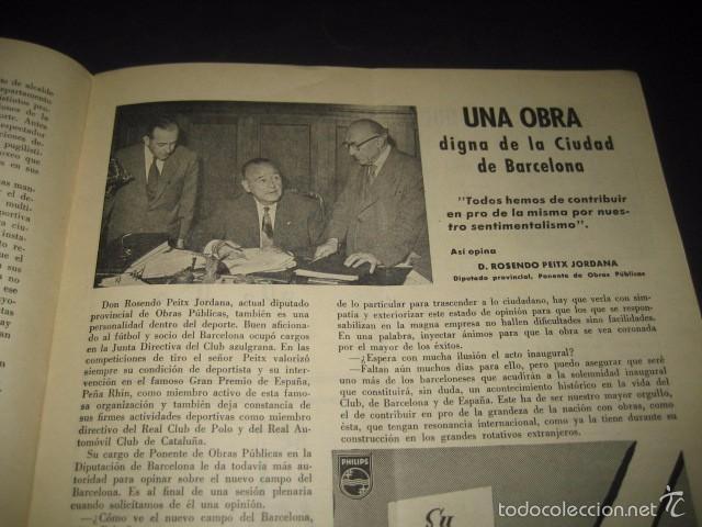 Coleccionismo deportivo: CLUB DE FUTBOL BARCELONA. INFORMACION Nº14 AÑO 1956 - Foto 4 - 59665071