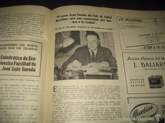Coleccionismo deportivo: CLUB DE FUTBOL BARCELONA. INFORMACION Nº14 AÑO 1956 - Foto 6 - 59665071