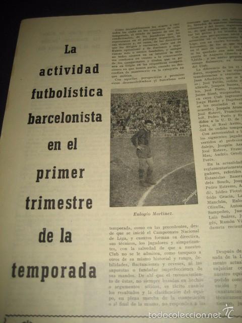 Coleccionismo deportivo: CLUB DE FUTBOL BARCELONA. REVISTA INFORMACION Nº15 AÑO 1956 - Foto 10 - 59665287