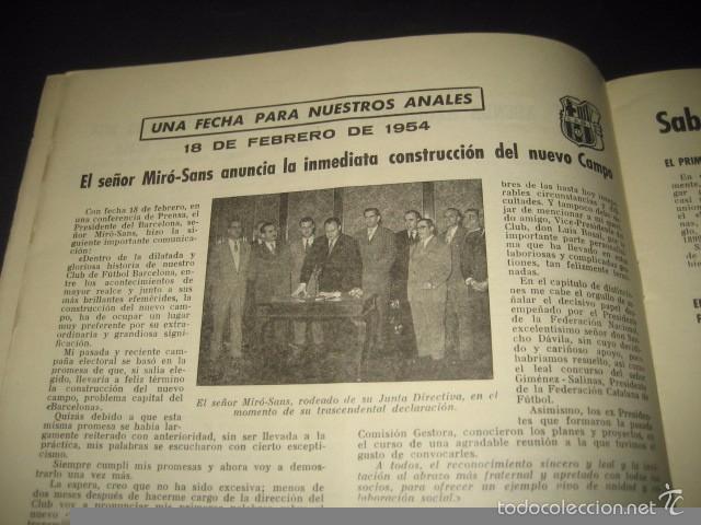 Coleccionismo deportivo: CLUB DE FUTBOL BARCELONA. REVISTA INFORMACION MARZO 1954 - Foto 3 - 59665423