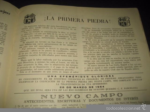 Coleccionismo deportivo: CLUB DE FUTBOL BARCELONA. REVISTA INFORMACION MARZO 1954 - Foto 4 - 59665423