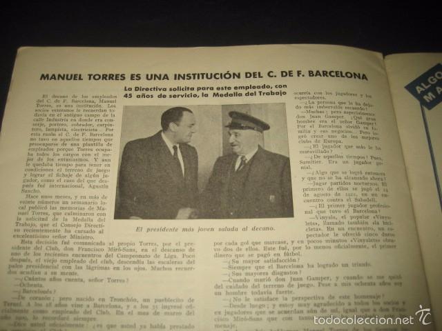 Coleccionismo deportivo: CLUB DE FUTBOL BARCELONA. REVISTA INFORMACION MARZO 1954 - Foto 6 - 59665423