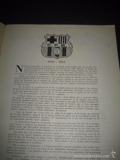 Coleccionismo deportivo: CLUB DE FUTBOL BARCELONA. REVISTA INFORMACION Nº5 NOVIEMBRE 1954 - Foto 2 - 59666015