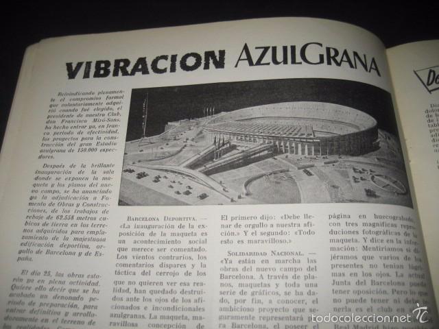 Coleccionismo deportivo: CLUB DE FUTBOL BARCELONA. REVISTA INFORMACION Nº5 NOVIEMBRE 1954 - Foto 3 - 59666015