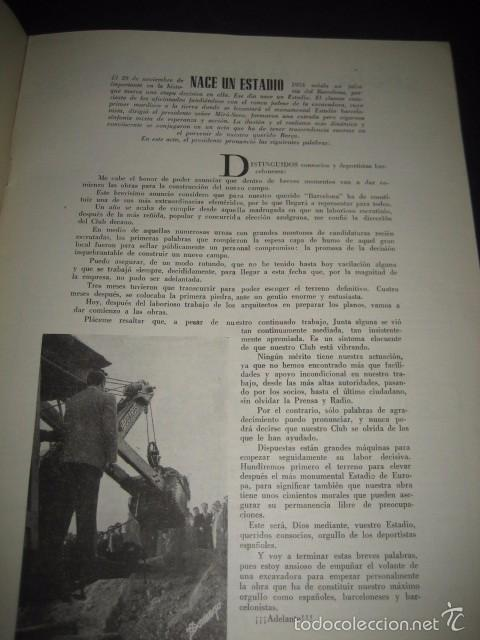 Coleccionismo deportivo: CLUB DE FUTBOL BARCELONA. REVISTA INFORMACION Nº6 DICIEMBRE 1954 - Foto 2 - 59666103