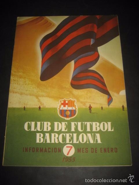 CLUB DE FUTBOL BARCELONA. REVISTA INFORMACION Nº7 ENERO 1955 (Coleccionismo Deportivo - Revistas y Periódicos - otros Fútbol)