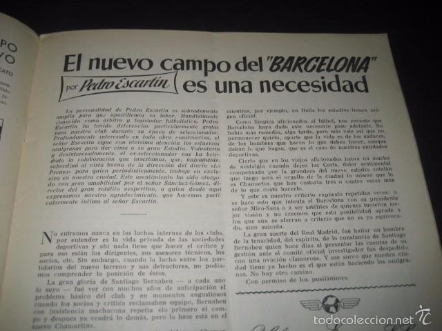 Coleccionismo deportivo: CLUB DE FUTBOL BARCELONA. REVISTA INFORMACION Nº7 ENERO 1955 - Foto 3 - 59666155