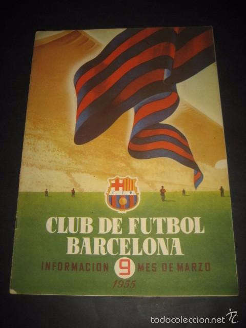 CLUB DE FUTBOL BARCELONA. REVISTA INFORMACION Nº9 MARZO 1955 (Coleccionismo Deportivo - Revistas y Periódicos - otros Fútbol)