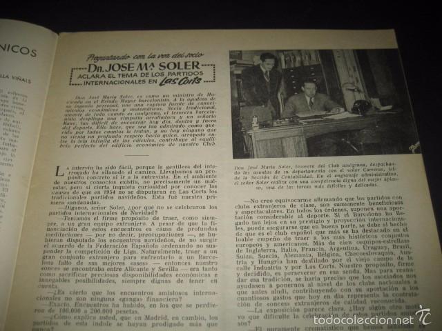 Coleccionismo deportivo: CLUB DE FUTBOL BARCELONA. REVISTA INFORMACION Nº9 MARZO 1955 - Foto 2 - 59666307