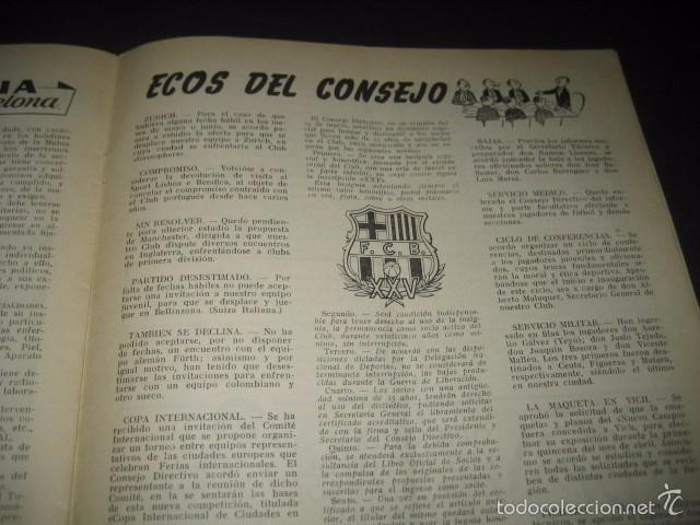 Coleccionismo deportivo: CLUB DE FUTBOL BARCELONA. REVISTA INFORMACION Nº9 MARZO 1955 - Foto 6 - 59666307