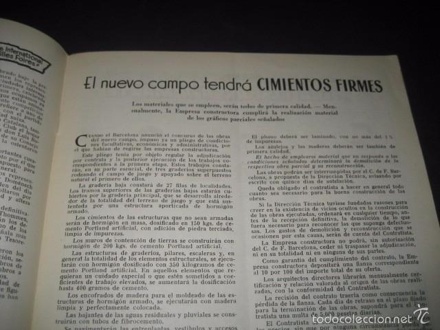 Coleccionismo deportivo: CLUB DE FUTBOL BARCELONA. REVISTA INFORMACION Nº11 MAYO - JUNIO 1955 - Foto 3 - 59666439