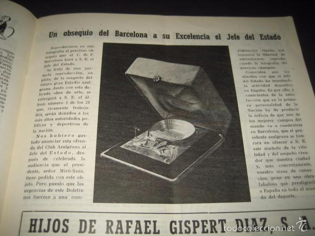 Coleccionismo deportivo: CLUB DE FUTBOL BARCELONA. REVISTA INFORMACION Nº11 MAYO - JUNIO 1955 - Foto 4 - 59666439