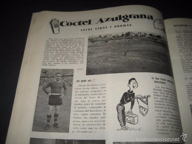 Coleccionismo deportivo: CLUB DE FUTBOL BARCELONA. REVISTA INFORMACION Nº11 MAYO - JUNIO 1955 - Foto 5 - 59666439