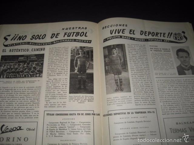 Coleccionismo deportivo: CLUB DE FUTBOL BARCELONA. REVISTA INFORMACION Nº11 MAYO - JUNIO 1955 - Foto 8 - 59666439