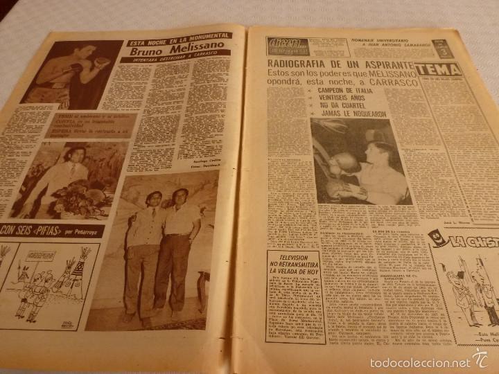 Coleccionismo deportivo: DICEN (13-9-68)CARRASCO Vs MELISSANO BOXEO,DE FELIPE(R.MADRID)VOLTA-68,BASKET ESPAÑOL MEXICO,ARTIGAS - Foto 2 - 59678247