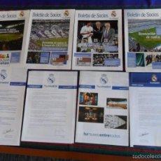 Coleccionismo deportivo: REAL MADRID BOLETÍN DE SOCIOS 11 12 13 14 15 16 17 18 19 20 21. DICIEMBRE 2003 A JUNIO 2008. MBE.. Lote 60103767