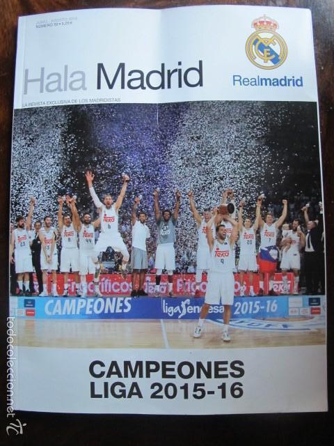 REVISTA REAL MADRID HALA MADRID NUMERO 59 AGOSTO 2016 (Coleccionismo Deportivo - Revistas y Periódicos - otros Fútbol)