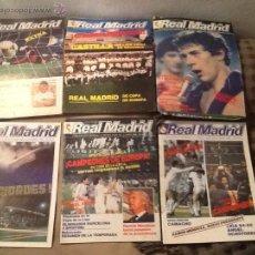 Coleccionismo deportivo: LOTE BOLETINES REAL MADRID 1984-1985. Lote 50077211