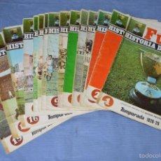 Coleccionismo deportivo: FUTBOL HISTORIA DE LA LIGA - 15 FASCÍCULOS - PRIMEROS NÚMEROS - AÑO 1969 ¡MIRA FOTOS/DETALLES!. Lote 60336483