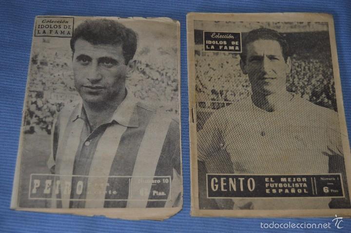 COLECCIÓN ÍDOLOS DE LA FAMA - AÑO 1965 - NÚM. 01 Y 10 - GENTO Y PEIRO - PÓSTERS R. MADRID (Coleccionismo Deportivo - Revistas y Periódicos - otros Fútbol)
