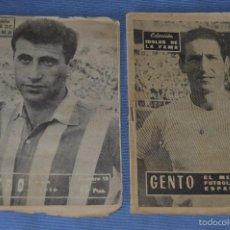 Coleccionismo deportivo: COLECCIÓN ÍDOLOS DE LA FAMA - AÑO 1965 - NÚM. 01 Y 10 - GENTO Y PEIRO - PÓSTERS R. MADRID. Lote 60342759