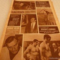 Coleccionismo deportivo: DICEN (22-11-69)PIRRI(R.MADRID)AGUSTIN MONTAL(BARÇA)RONNIE ALLEN,BOXEO,WERNER EN DEPORTE.. Lote 60352923