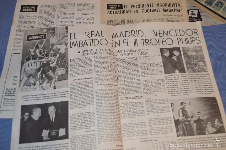 Coleccionismo deportivo: Lote, 5 revistas REAL MADRID - Años 60 - Núm. 190, 194, 211, 213 y 216 - Mira Fotos/detalles - Foto 6 - 60370671