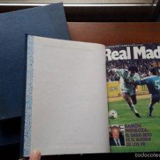 Coleccionismo deportivo: REAL MADRID REVISTA OFICIAL 1989-90 - 3 TOMOS ENCUADERNANDOS A MANO - 38 REVISTAS INCLUYE LA N°1.. Lote 60880895