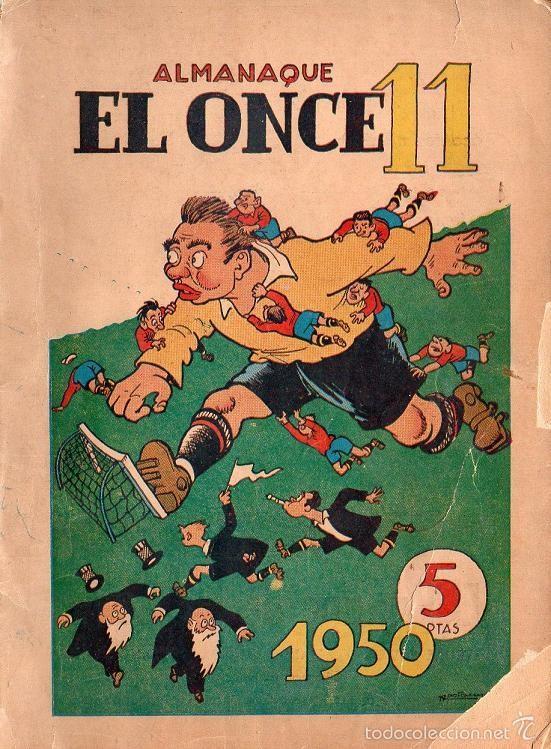 ALMANAQUE EL ONCE 11 - AÑO 1950 (Coleccionismo Deportivo - Revistas y Periódicos - otros Fútbol)