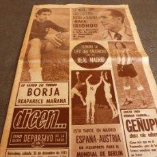 Coleccionismo deportivo: DICEN (15-12-73)JOSE LUIS PORTERO NASTIC,BORJA(ESPAÑOL)AGUSTIN MONTAL,BOXEO,CICLISMO.. Lote 61279967