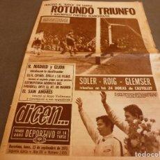 Collezionismo sportivo: DICEN(13-9-71)!!!ROTUNDO TRIUNFO EN SARRIÁ!!! ESPAÑOL 3 BARÇA 0 !!!SAN ANDRÉS-RAYO,CAMPARI SODA.. Lote 61425055
