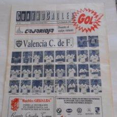 Coleccionismo deportivo: REVISTA CUATRO CALLES Nº 35. LAS GAUNAS. 12 DE MARZO 1989. PREVIA LOGROÑES VALENCIA C.F. TDKR22. Lote 61553924