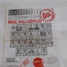 Coleccionismo deportivo: REVISTA CUATRO CALLES Nº 130. LAS GAUNAS. 2 DE ENERO 1994. PREVIA LOGROÑES REAL VALLADOLID. TDKR22. Lote 61554024