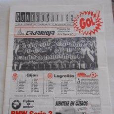 Coleccionismo deportivo: REVISTA CUATRO CALLES Nº 17. LAS GAUNAS. 17 ABRIL 1988. PREVIA LOGROÑES SPORTING DE GIJON. TDKR22. Lote 61554188