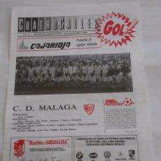 Coleccionismo deportivo: REVISTA CUATRO CALLES Nº 24. LAS GAUNAS. 18 SEPTIEMBRE 1988. PREVIA LOGROÑES C.D. MALAGA. TDKR22. Lote 61554564