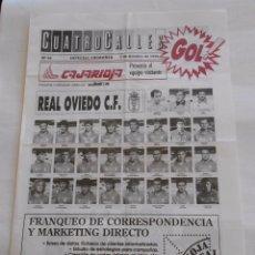 Coleccionismo deportivo: REVISTA CUATRO CALLES Nº 65. LAS GAUNAS. 7 OCTUBRE DE 1990. PREVIA LOGROÑES REAL OVIEDO. TDKR22. Lote 61554760