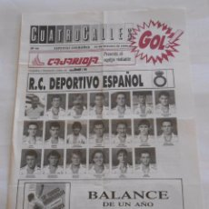 Coleccionismo deportivo: REVISTA CUATRO CALLES Nº 66. LAS GAUNAS. 21 OCTUBRE 1990 PREVIA LOGROÑES R.C.D. ESPANYOL. TDKR22. Lote 61554812