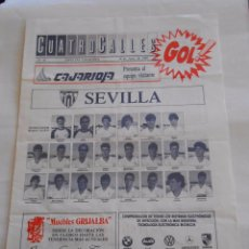 Coleccionismo deportivo: REVISTA CUATRO CALLES Nº 42. LAS GAUNAS. 24 JUNIO DE 1989. PREVIA LOGROÑES SEVILLA F.C. TDKR22. Lote 61554976