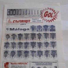 Coleccionismo deportivo: REVISTA CUATRO CALLES Nº 43. LAS GAUNAS. 10 SEPTIEMBRE DE 1989. PREVIA LOGROÑES C.D. MALAGA. TDKR22. Lote 61555024