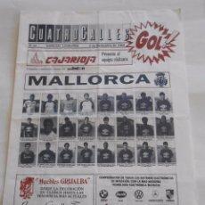Coleccionismo deportivo: REVISTA CUATRO CALLES Nº 48. LAS GAUNAS. 5 NOVIEMBRE DE 1989 PREVIA LOGROÑES R.C.D. MALLORCA TDKR22 . Lote 61556500
