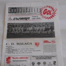 Coleccionismo deportivo: REVISTA CUATRO CALLES Nº 24. LAS GAUNAS. 18 SEPTIEMBRE DE 1988. PREVIA LOGROÑES C.D. MALAGA. TDKR22 . Lote 61556684