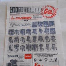 Coleccionismo deportivo: REVISTA CUATRO CALLES Nº 49. LAS GAUNAS. 19 NOVIEMBRE DE 1989 PREVIA LOGROÑES RAYO VALLECANO TDKR22 . Lote 61556788