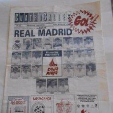 Coleccionismo deportivo: REVISTA CUATRO CALLES Nº 97. LAS GAUNAS. 15 MARZO DE 1992. PREVIA LOGROÑES REAL MADRID. TDKR22 . Lote 61556984