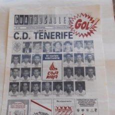 Coleccionismo deportivo: REVISTA CUATRO CALLES Nº 93. LAS GAUNAS. 2 DE FEBRERO DE 1992 PREVIA LOGROÑES C.D. TENERIFE. TDKR22 . Lote 61557184