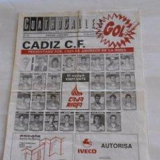 Coleccionismo deportivo: REVISTA CUATRO CALLES Nº 121. LAS GAUNAS. 20 DE JUNIO DE 1993. PREVIA LOGROÑES CADIZ C.F. TDKR22 . Lote 61557484