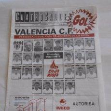 Coleccionismo deportivo: REVISTA CUATRO CALLES Nº 118 LAS GAUNAS. 16 DE MAYO DE 1993. PREVIA LOGROÑES VALENCIA C.F. TDKR22 . Lote 61557648