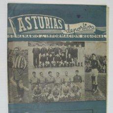 Coleccionismo deportivo: SEMANARIO ASTURIAS DEPORTIVA 12 ABRIL 1953 HISTORIETA DE ALFONSO. KUBALA. OVIEDO. GIJON.. Lote 61617248
